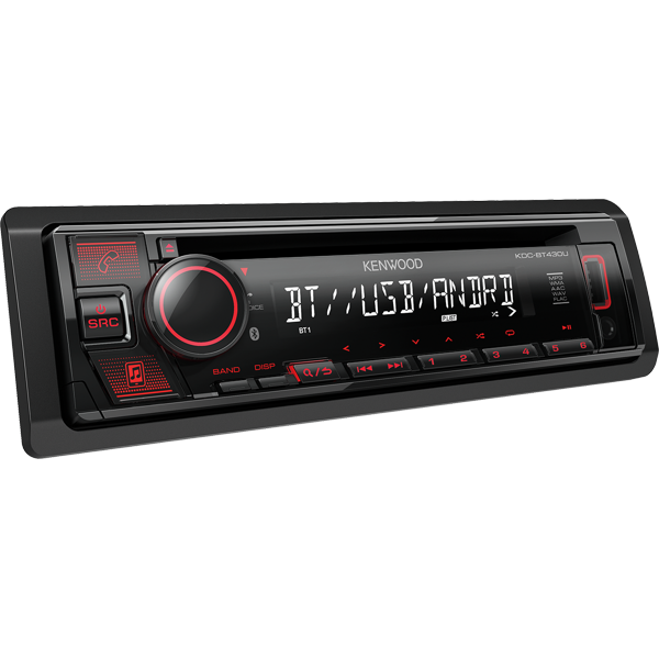 Auto Rádio Kenwood Radio CD USB Bluetooth KDC-BT430U -