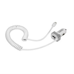 CARREGADOR APPLE (LIGHTNING) + USB - 2400 mA 12/24V